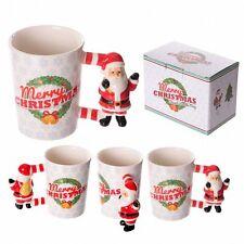 Fun Ceramic Santa Shaped Handle Mug Great Idea For Christmas Eve Dinner Drink