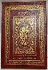 Shakespeare KING JOHN Easton Press Leather illus Valenti Angelo 1993