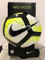 SOCCER BALL-NIKE SIZE 5-CLUB TEAM-WHITE/BLACK/YELLOW-OFFICIAL MATCH BALL-NEW-