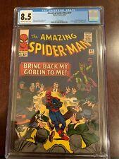 "Amazing Spider-Man #27  Green Goblin/""Death"" Crime Master  CGC 8.5 BEAUTY!"