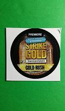 "GOLD RUSH STRIKE GOLD SWEEPSTAKES TV GETGLUE GET GLUE SM 1.5"" STICKER"