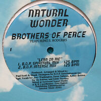 """Brothers Of Peace / S. Rodgers – Lean On Me   1996 US Vinyl 12""""  Mint  UNPLAYED"""