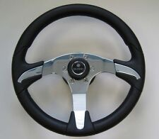 New OEM Gussi Boat Steering Wheel M450 Chromed ABS Inserts on Black Urethane Rim