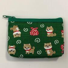 Cute Kawaii Japanese Shiba Inu Dog Coin Card Case Green made in Japan Kyoto