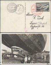 Liechtenstein 1931 - Zeppelin Flight Air Mail Postcard D47