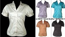 Blouse Short Sleeve Unbranded Fitted Tops & Shirts for Women