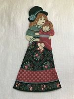 "Victorian Courtship Doll - 1 - Iron-On Fabric Appliques.. 6 1/2"" Tall.  (B)"