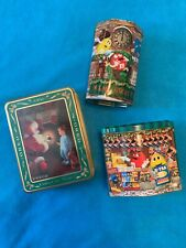 M&M's and Oreo Christmas Season's Greetings Metal Tin LOT 2000 2001 1991