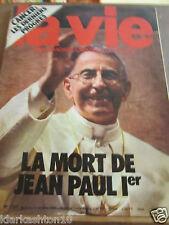 La Vie (hebdomadaire chrétien d'actualité) N°1727: la mort de Jean-Paul 1er