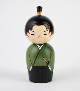 "Usaburo Kokeshi Puppe ""Wakazamurai"" , Young Samurai,  Japan"