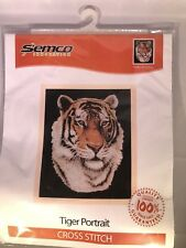 Tiger Portrait Cross Stitch Kit Semco
