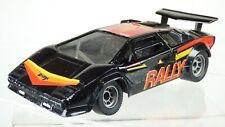 Vintage Polistil Black 1:23 Black Lamborghini Countach Rally Mobil Toy Car Italy