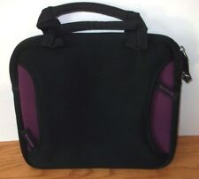 "Neoprene Tablet Carry Bag Case Black & Purple 8 1/4""x 10 1/4"""