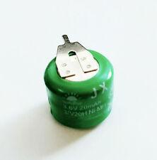 3x Ni-Mh Batería Recargable con pestañas de botón 3.6V 20MAH para alimentación de respaldo de datos PLC