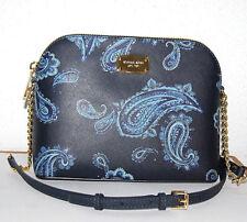 MICHAEL KORS Handtasche Cindy Neu Admiral blau Paisley Tasche Bag Leder Dome LG