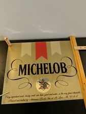 "Michelob Poster 15"" H x 17 1/5"" W Original"