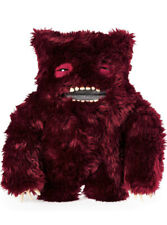"""Fuggler Funny Ugly Monster 12"""" Clawey Plush Doll Creature Dark Red"""