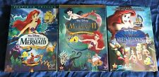 The Little Mermaid DVD 1,2,3 Trilogy Ariel's Beginning Disney Movies Sealed