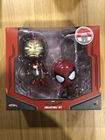 Hot Toys Cosbaby Spider-man Homecoming Collectable Set With Magnetic Feature