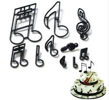 10 Music Notes Plastic Fondant Cake Decor Cutters