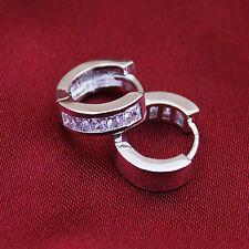 Classic Gold Silver Filled Hoop earrings crystal Rhinestone