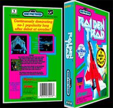 Raiden Trad - Sega Genesis Reproduction Art Case/Box No Game.