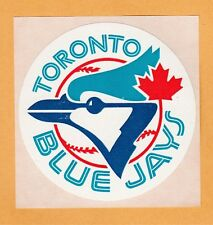 OLD LOGO 1970's MLB TORONTO BLUE JAYS 3 inch DECAL STICKER UNUSED STOCK
