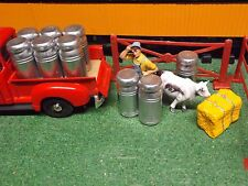 G SCALE MILK CANS SET OF 6  1/24 SCALE SET 0F 6