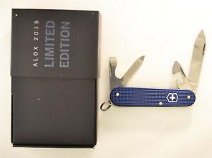Victorinox 2015 Limited Dark Blue Cadet Alox Swiss Army knife- NIB #8033