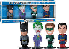 "FUNKO DC UNIVERSE SET OF 4 MINI 3"" WACKY WOBBLER BOBBLE HEAD BRAND NEW COOL SET"