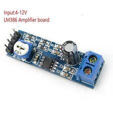 LM386 200 Times Gain Mono Audio Amplifier Board Module Input 4-12V