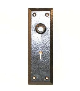 Antique Cast Iron Door Face Plate Back Plate Hardware Simple Design Rectangle