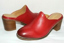 ❤️HUSH PUPPIES Bounce Hannah Burnished Red Leather Cushioned Mule 8 M NEW! L@@K!