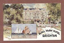 Royal York Hotel  Brighton 1908,  Ms Manning Hoplands  Kings Sombourne   RK1063
