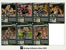2002 Teamcoach Trading Card Silver Team set Collingwood (7 )