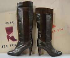 Bottes Femmes BOTTAZZIN true vintage Boots made Italy Metallic Gold Marron slouch