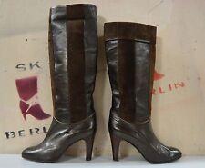 Damen Stiefel BOTTAZZIN TRUE VINTAGE Boots made italy metallic gold braun slouch