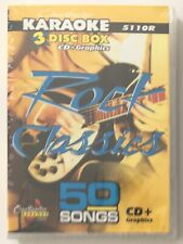 Chartbuster Karaoke Rock Classics 50 Songs 3 Disc Set on CD+G #5110R - NEW