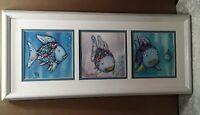 The Rainbow Fish Children's Book Marcus Pfister Framed Reflective Art Print Trio