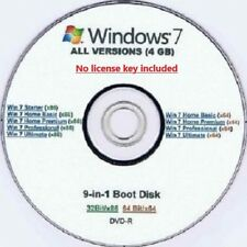 Windows 7 SP1 All Versions 32/64 Bit - DVD - FREE 1st CLASS POST!