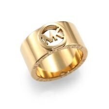 Michael Kors Gold Tone Classic Logo Ring Size 7