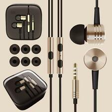 new Metal in ear headphones earphones with mic + remote for gym jogging sports m