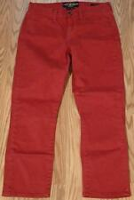 """LUCKY BRAND DUNGAREES sz 6/28  """"SOFIA CAPRI"""" RED RED JEANS meas 28"""" x 25"""" #370-5"""