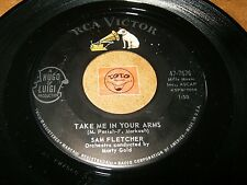 SAM FLETCHER - TAKE ME IN YOUR ARMS - I JUST HAD  / LISTEN - BALLAD RNB POPCORN