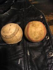 2 Vintage Leather Baseballs