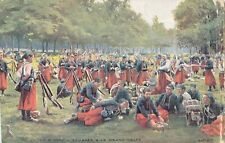 CL41. Antique Field Censored Postcard. Zouaves at Rest. WWI