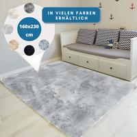 Teppich Hochflor 160x230 Shaggy Flokati Langflor Fußmatte Läufer Weich 6 Farben