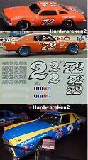 NASCAR DECAL # 2 MIKE CURB - EARNHARDT #72 - DEWITT-  B. PARSONS  JNJ Decals