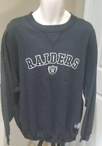 Originals NFL RAIDERS Crew Neck Sweatshirt Men's - Size XL Black NWT