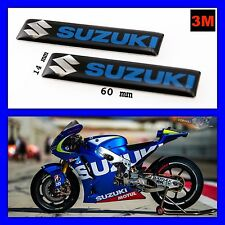 SUZUKI Logo 3D Sticker Adhesive Alloy Motorcycle Emblem 3M Decal Badge Tank 2pcs